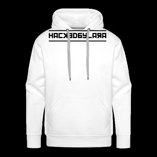 HackedByLara_Logo -Schwarz- - Männer Premium Hoodie