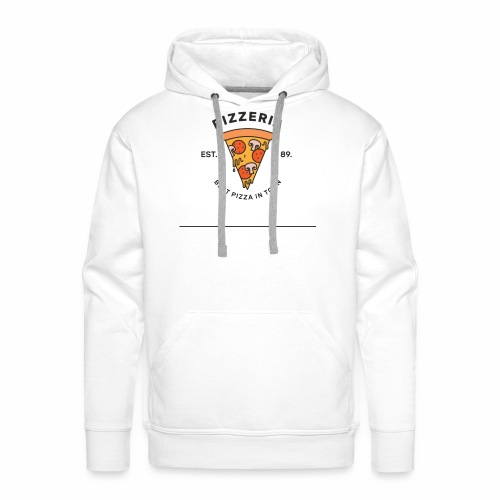 T-shirt pizza - Sweat-shirt à capuche Premium pour hommes