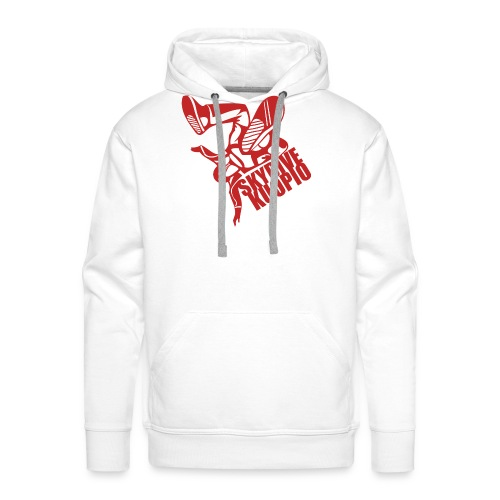 KLU logo red - Miesten premium-huppari