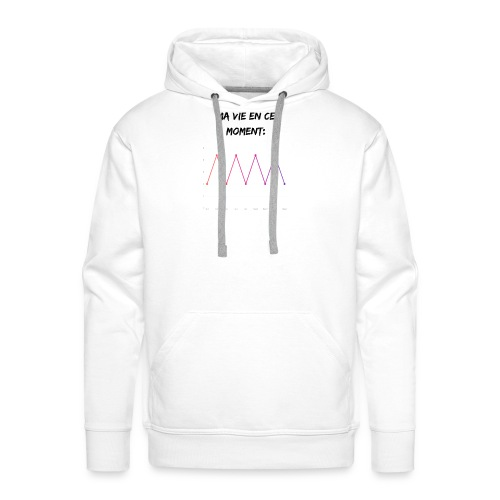 Ma vie en ce moment: - Sweat-shirt à capuche Premium pour hommes