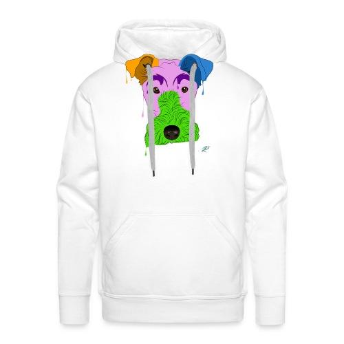 Fox Terrier - Felpa con cappuccio premium da uomo