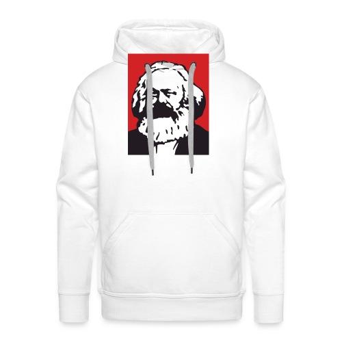 Karl Marx - Felpa con cappuccio premium da uomo