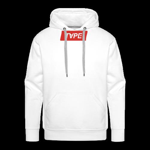 TAPE SHAPE RED - Mannen Premium hoodie