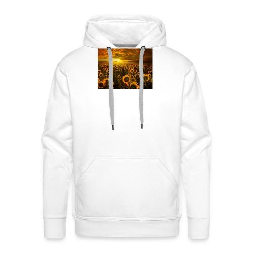 sunfl-png - Felpa con cappuccio premium da uomo