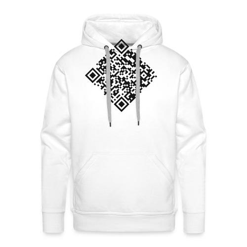 qr code pull - Sweat-shirt à capuche Premium pour hommes