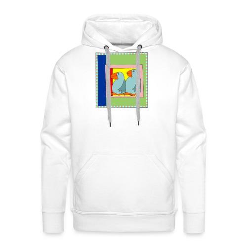Colorart1 - Felpa con cappuccio premium da uomo