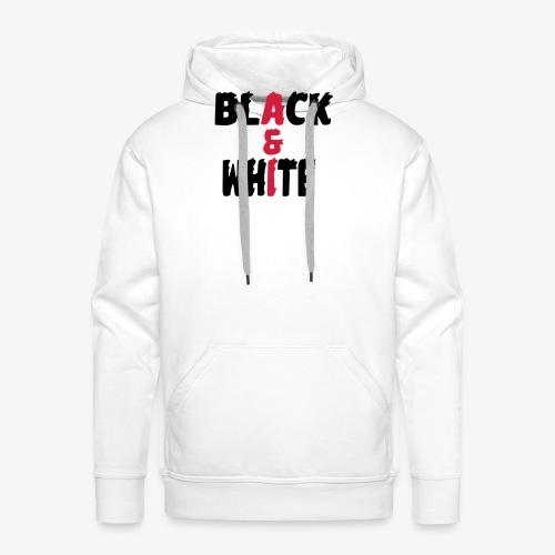 black et white - Sweat-shirt à capuche Premium pour hommes