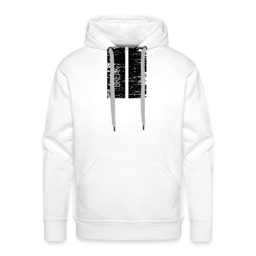 Break, pause - Sweat-shirt à capuche Premium pour hommes