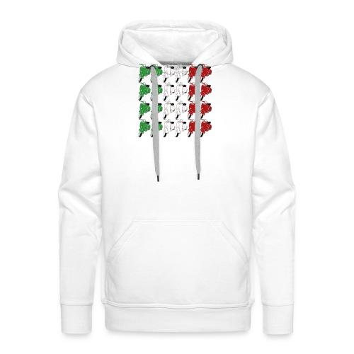 Italian_flag-png - Felpa con cappuccio premium da uomo