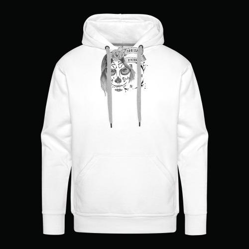 Santa Muerte Cover - Felpa con cappuccio premium da uomo