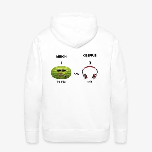Melon vs Casque - Sweat-shirt à capuche Premium pour hommes