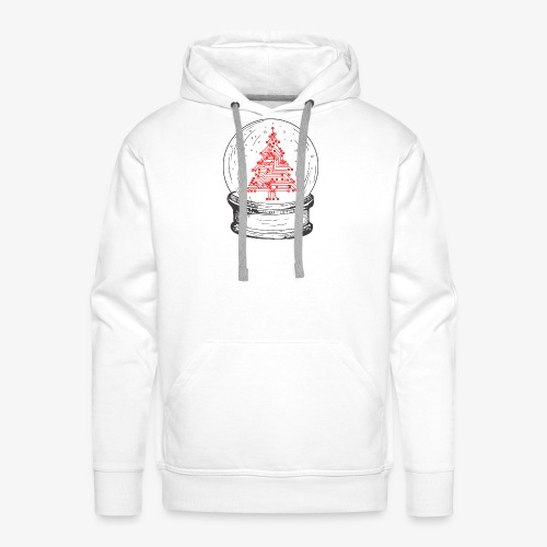Crystal snow globe | Geeky christmas tree - Men's Premium Hoodie