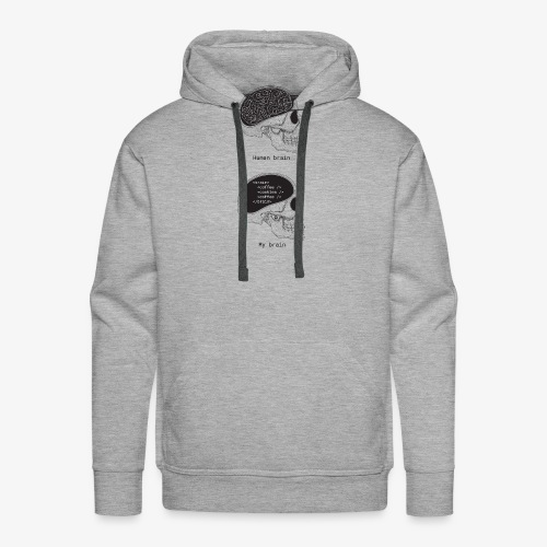 Human programmer brain | Memes | Web jokes - Men's Premium Hoodie