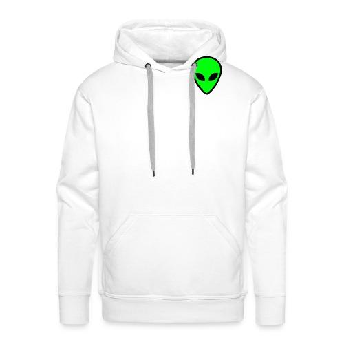 alien face 5 - Felpa con cappuccio premium da uomo