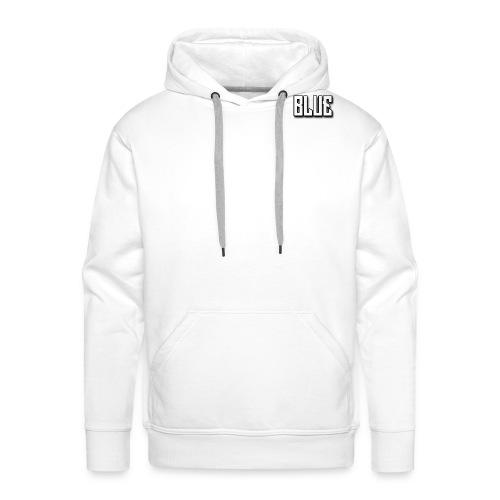 BLUE wit - Mannen Premium hoodie
