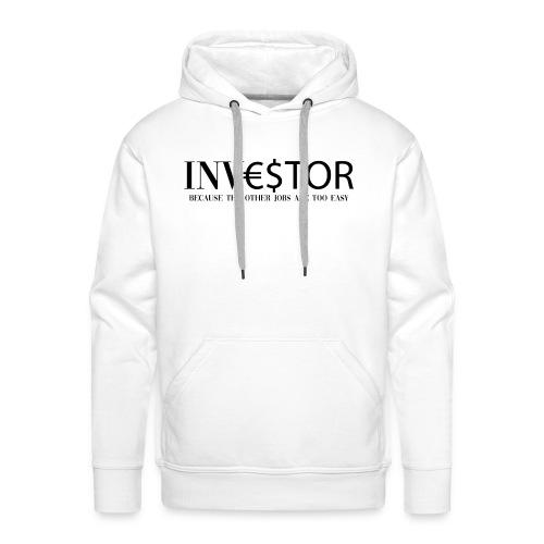 investor 2 because the other nero - Felpa con cappuccio premium da uomo