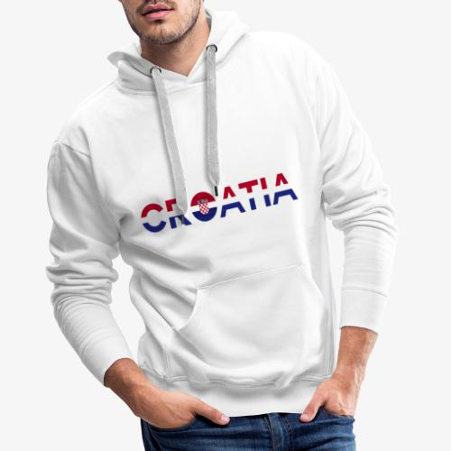 From Croatia with Love - Croatia stripswith emble - Männer Premium Hoodie