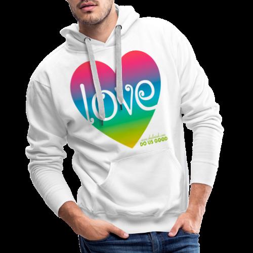 LOVE - Miesten premium-huppari