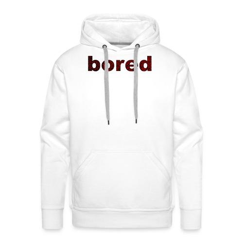 Bored Design rote Punkte auf Schwarz - Männer Premium Hoodie
