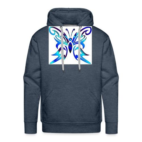 Tribal Weiss- Schmetterling - Männer Premium Hoodie