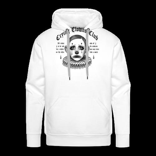 Crying Clowns Club - Black text - Herre Premium hættetrøje