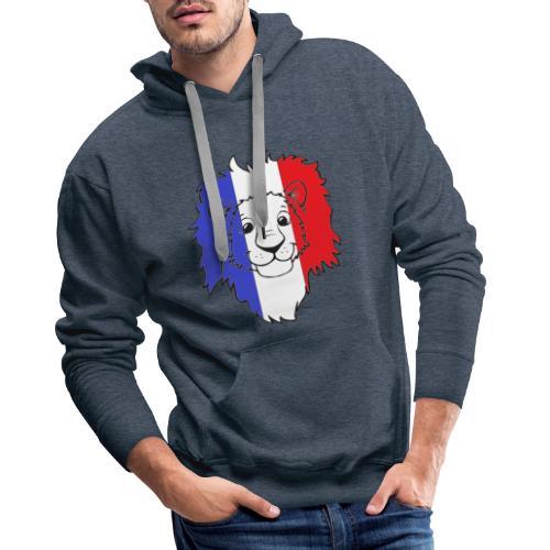 Lion France - Sweat-shirt à capuche Premium pour hommes