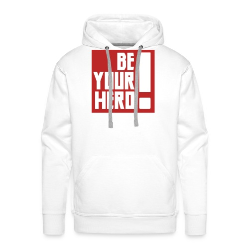 BE YOUR HERO Red - Sweat-shirt à capuche Premium pour hommes