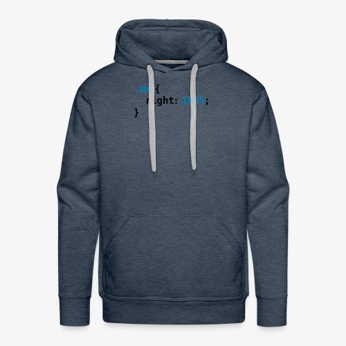 Funny geek - CSS Right 100% Programmer Nerd Tech - Men's Premium Hoodie