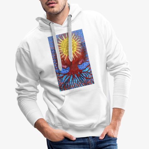 Niebiańskie Drzewo - Bluza męska Premium z kapturem