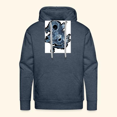 dragón blue - Sudadera con capucha premium para hombre
