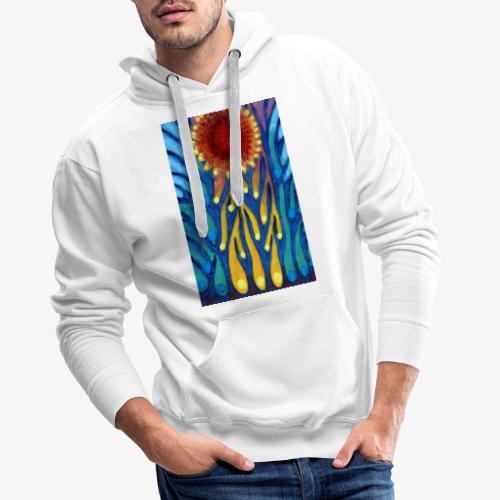 Chore Słońce - Bluza męska Premium z kapturem