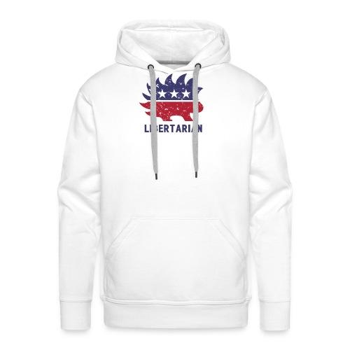 Libertarian porcupine - Bluza męska Premium z kapturem