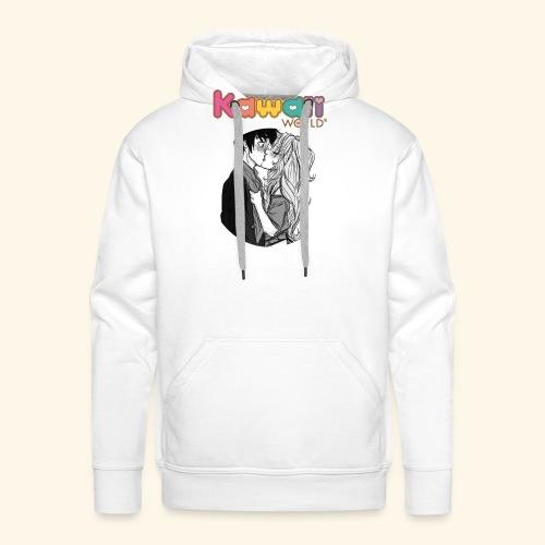 kawaii world - Sudadera con capucha premium para hombre
