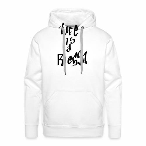 La vida es un riesgo - Sudadera con capucha premium para hombre