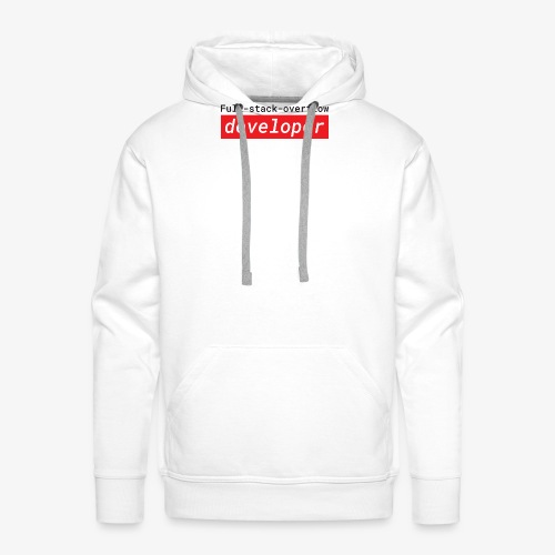 Full stack overflow developer | programmer jokes - Men's Premium Hoodie