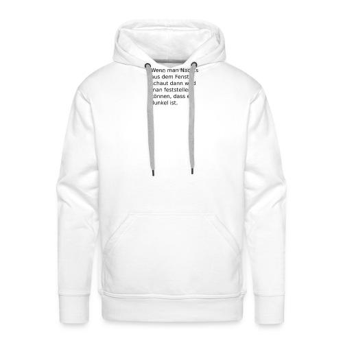 Nachts am Fenster - Männer Premium Hoodie
