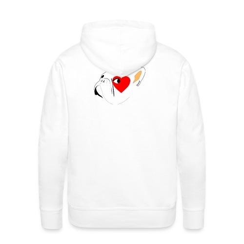Bouli Blanc - Sweat-shirt à capuche Premium pour hommes