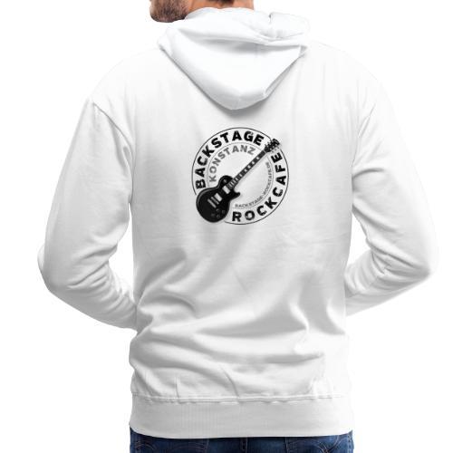 Backstage Logo einfach Schwarz - Männer Premium Hoodie