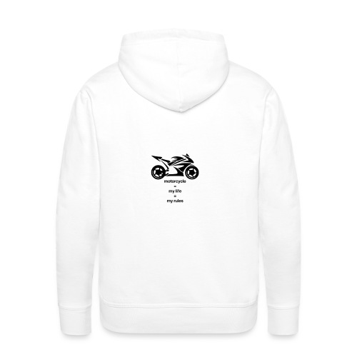 Motorcycle life rules design - Mannen Premium hoodie