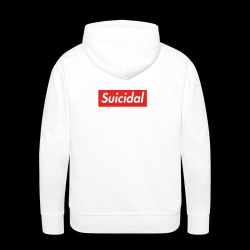 Suicidal Logo.png - Sudadera con capucha premium para hombre
