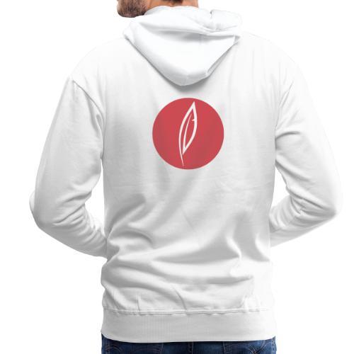 Logo - Rond rouge (dos) - Sweat-shirt à capuche Premium pour hommes