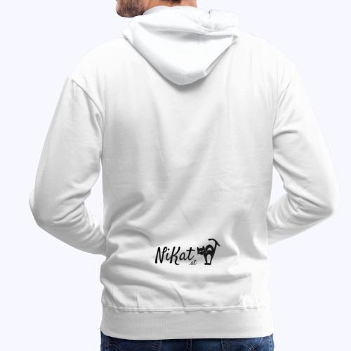 Nikat logo schwarz - Männer Premium Hoodie