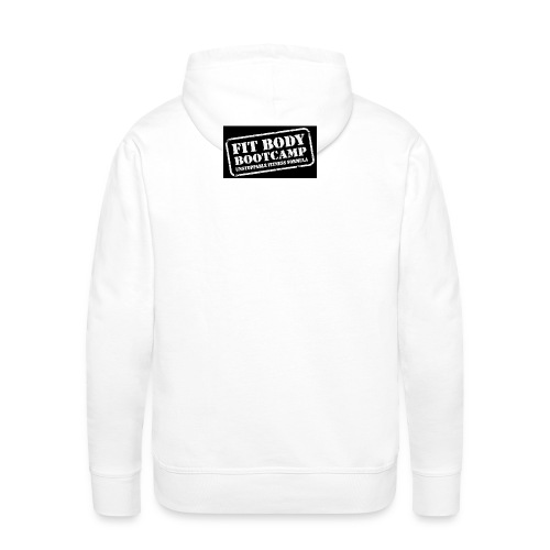 fitbodybootcamp black and white logo - Men's Premium Hoodie