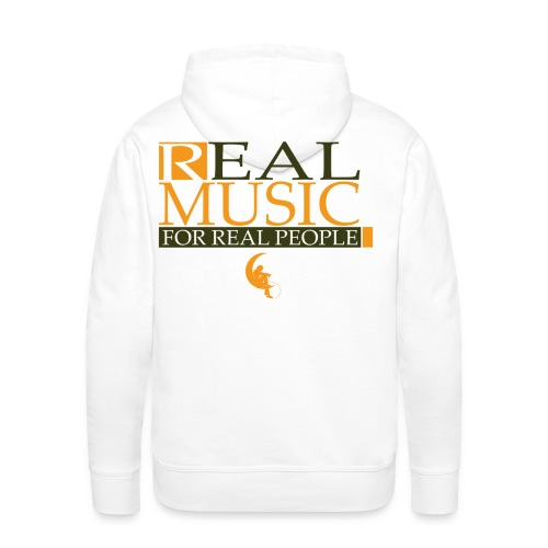 Real Music for Real People - Sweat-shirt à capuche Premium pour hommes