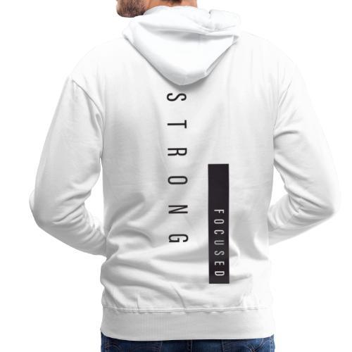 Strong Focused - Sweat-shirt à capuche Premium pour hommes