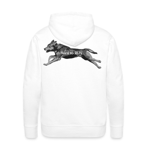 Born_to_Run---gray.png - Männer Premium Hoodie