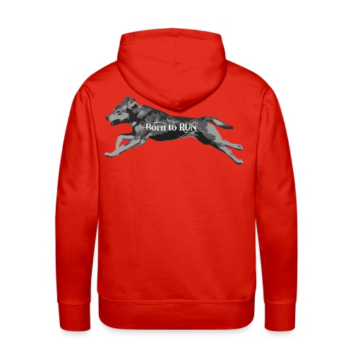Born_to_Run---gray.png - Männer Premium Hoodie