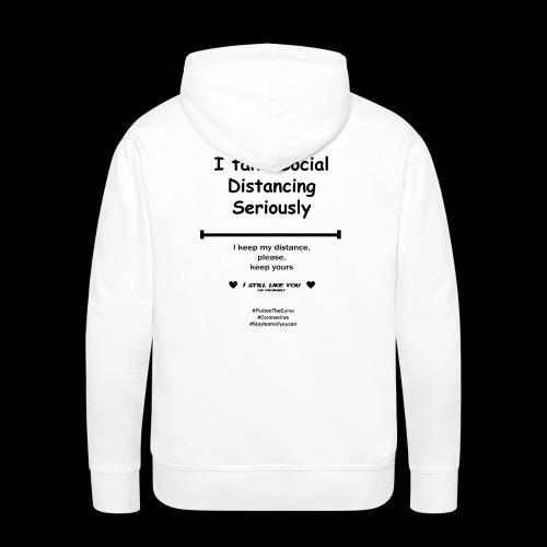 Social distancing black - Mannen Premium hoodie