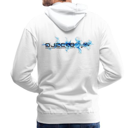 logo wave bleu fond blanc - Sweat-shirt à capuche Premium pour hommes
