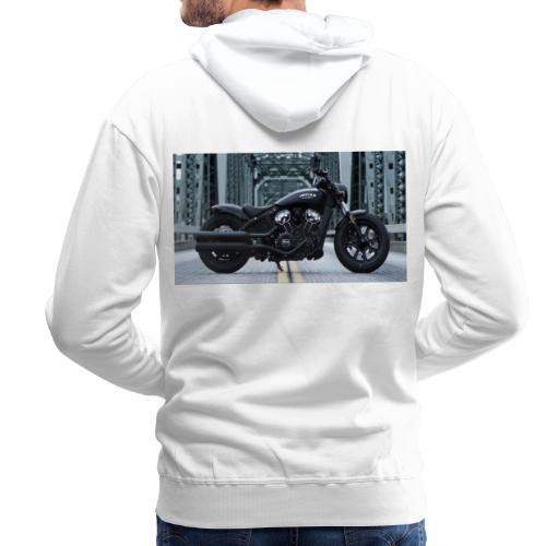 Passione per le moto - Felpa con cappuccio premium da uomo